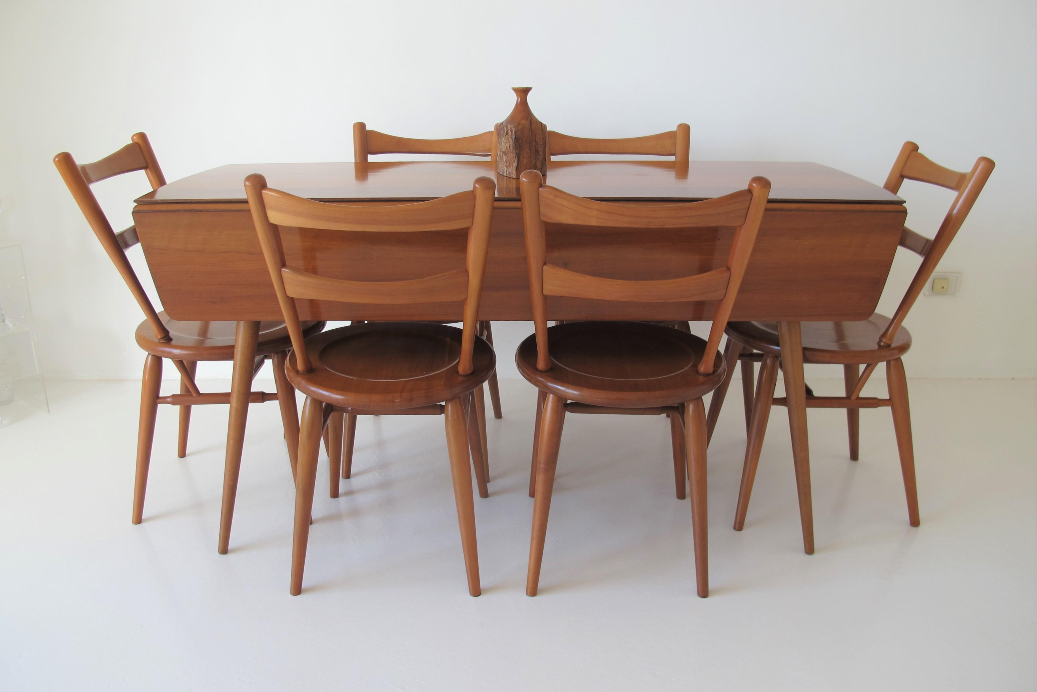 6 Six Dining Chairs Fred Ward 1950 S Vintage Retro Fler Danish