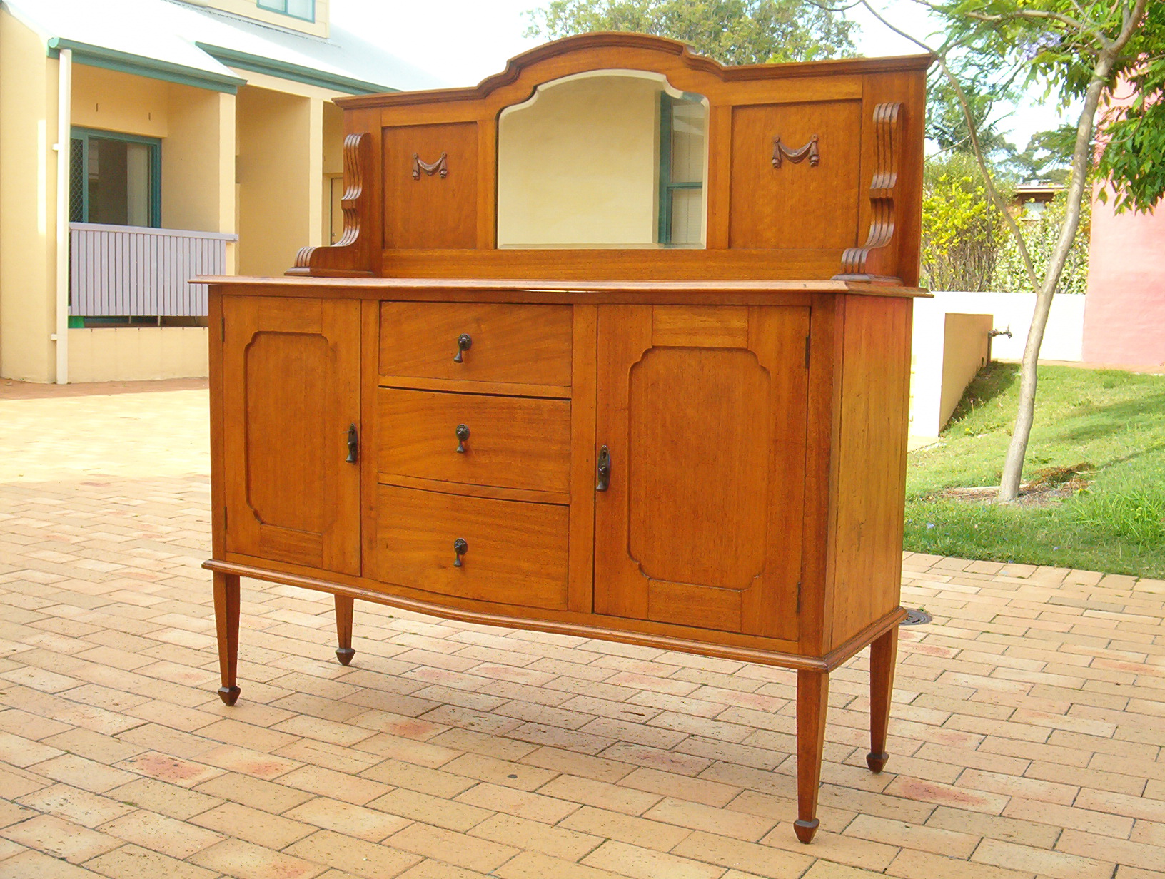 Sideboard 1910 S Arts And Crafts Solid Maple Hand Made