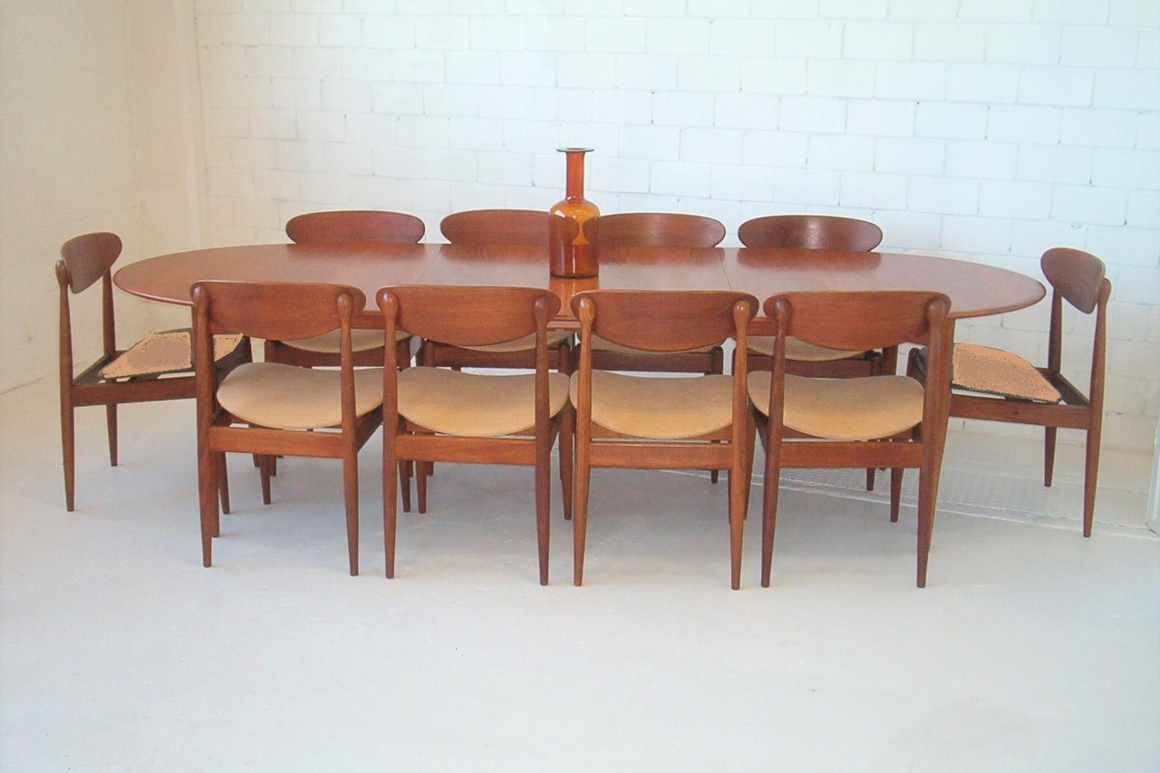 Eight Parker Teak Dining Chairs Labels Vintage Retro Spadeback