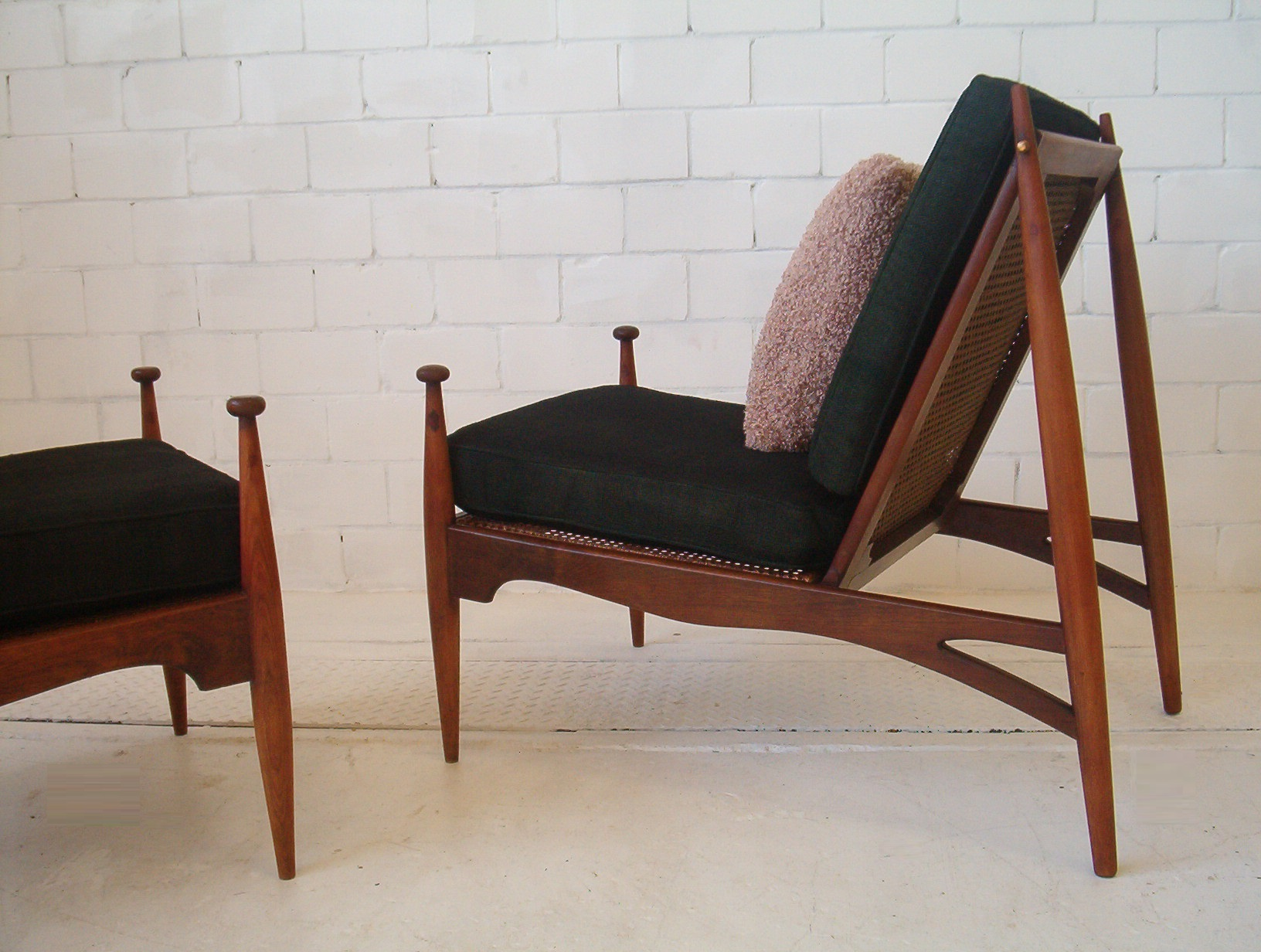 Pair John Duffecy Armchairs 2 Chairs 1960 S Vintage Parker Era
