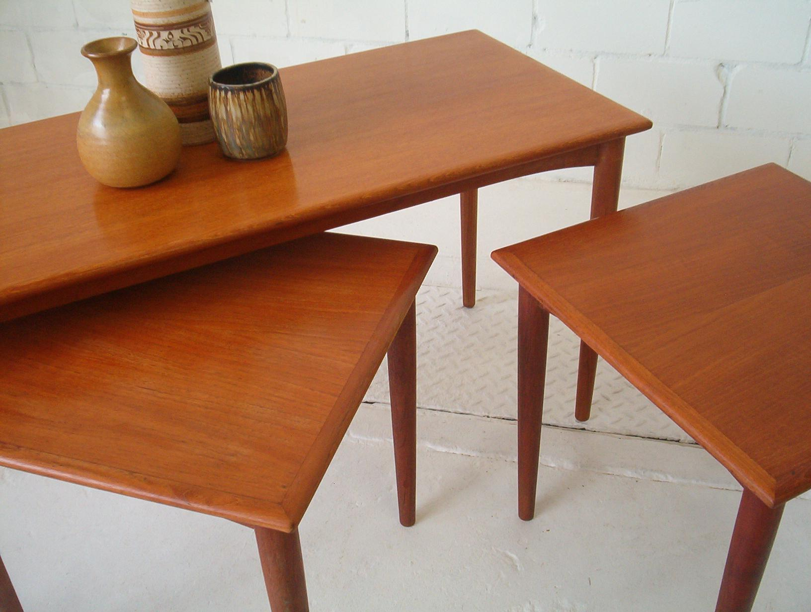 Parker Furniture Teak Coffee Table & 2 Side Tables ...